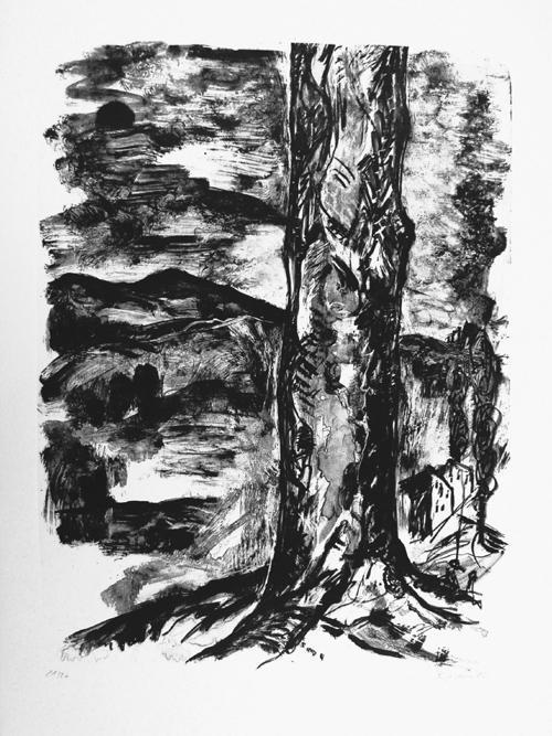 Bernd Zimmer - Original-Lithographie von 1986, handsigniert, datiert und numeriert, kleine Aufl., Ex.Nr 21/27 kopen? Bied vanaf 295!
