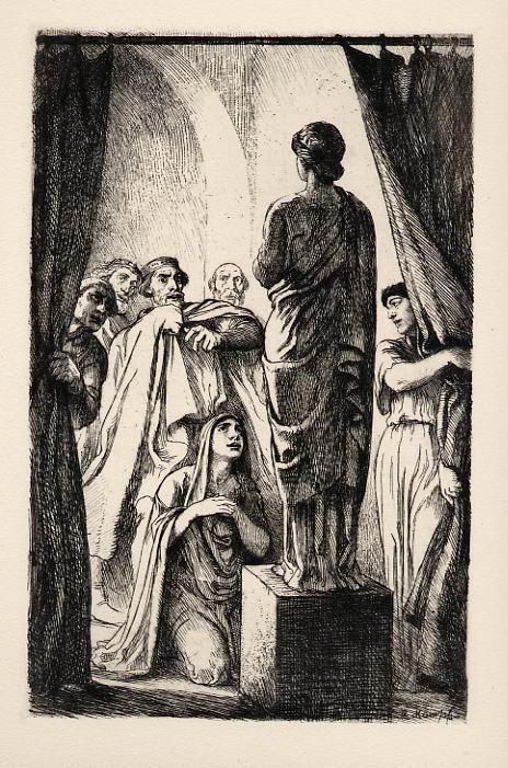 Arthur Kampf - Original Radierung des Direktors der HfbK BERLIN 1920 zu Shakespeare-Thema kopen? Bied vanaf 25!