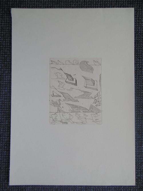 Stefan Wewerka - Original-Radierung, Pyramiden und Ganoven, 1973, unsigniert kopen? Bied vanaf 35!