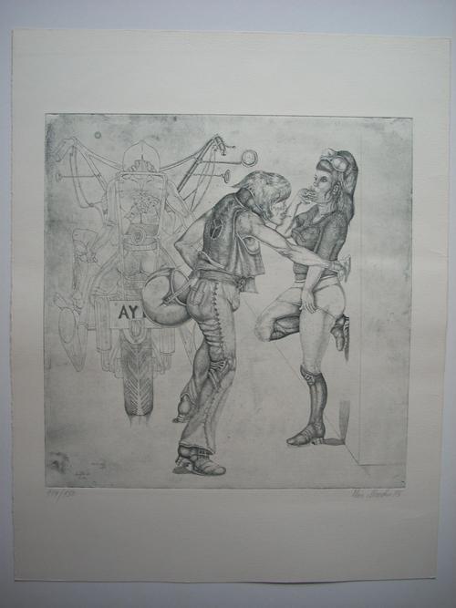 Uwe Maerker - Original-Radierung von 1975, signiert, datiert und nummeriert, Ex. 114/150 kopen? Bied vanaf 45!