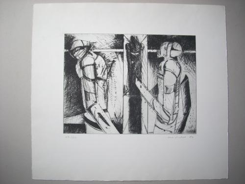 Henning Kürschner - Original-Radierung von 1980, sign., datiert , numm., Ex. 17/60, Großformat kopen? Bied vanaf 95!