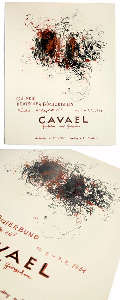 Rolf Cavael - Originalgraphisches Plakat, 1961 kopen? Bied vanaf 110!