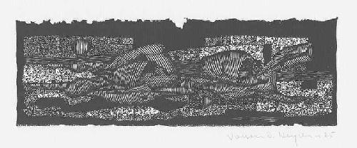 Volker Detlef Heydorn - OriginalLinolschnitt des Künstlers der HAMBURGER SEZESSION - handsigniert 1965 datiert kopen? Bied vanaf 25!