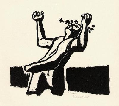Gottfried Teuber - OriginalLinolschnitt Des RICHARD SEEWALD-Schülers - handsigniert - 1964 kopen? Bied vanaf 25!