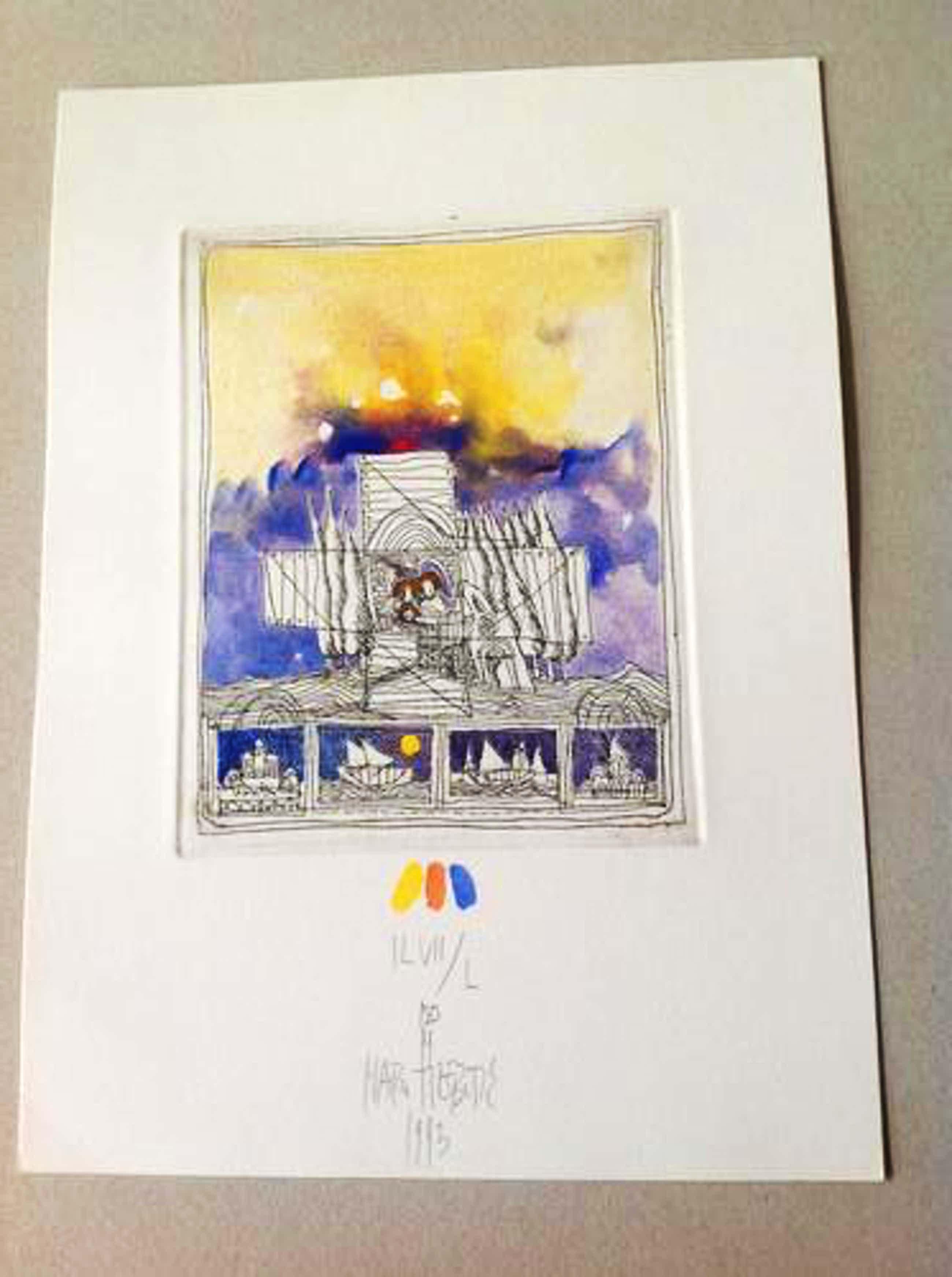 Matko Trebotic - O.T., 1993, Radierung/Aquarellfarben, handsigniert kopen? Bied vanaf 79!