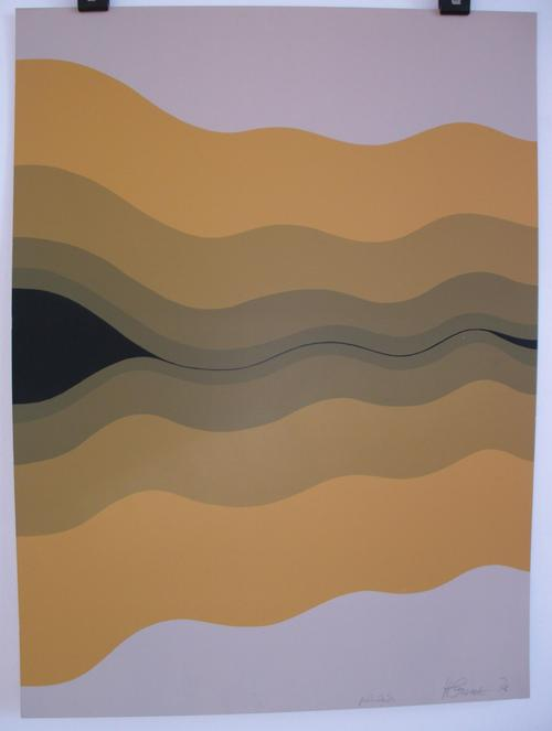 Hans Grosse - o.T. (Opart), Farbserigraphie, 1967 kopen? Bied vanaf 180!