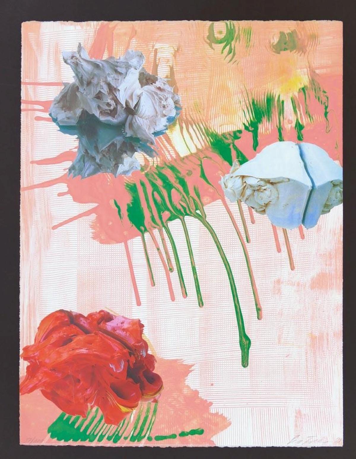Pia Fries - o.T., Original Farbsiebdruck, signiert, num., dat. kopen? Bied vanaf 590!