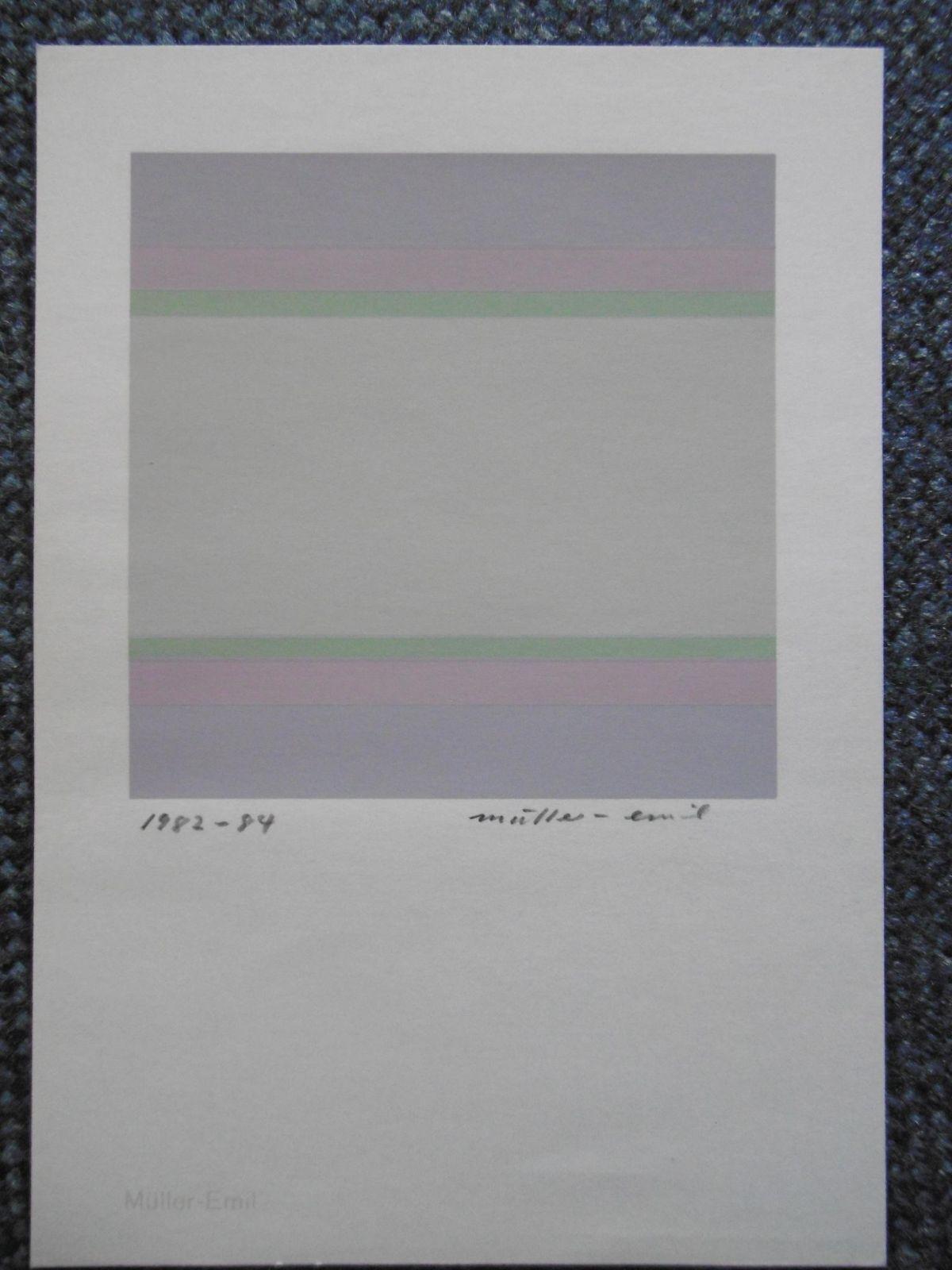 Emil Müller - o.T. - Original-Farbsiebdruck von 1982-84, mit Bleistift handsigniert und datiert kopen? Bied vanaf 40!