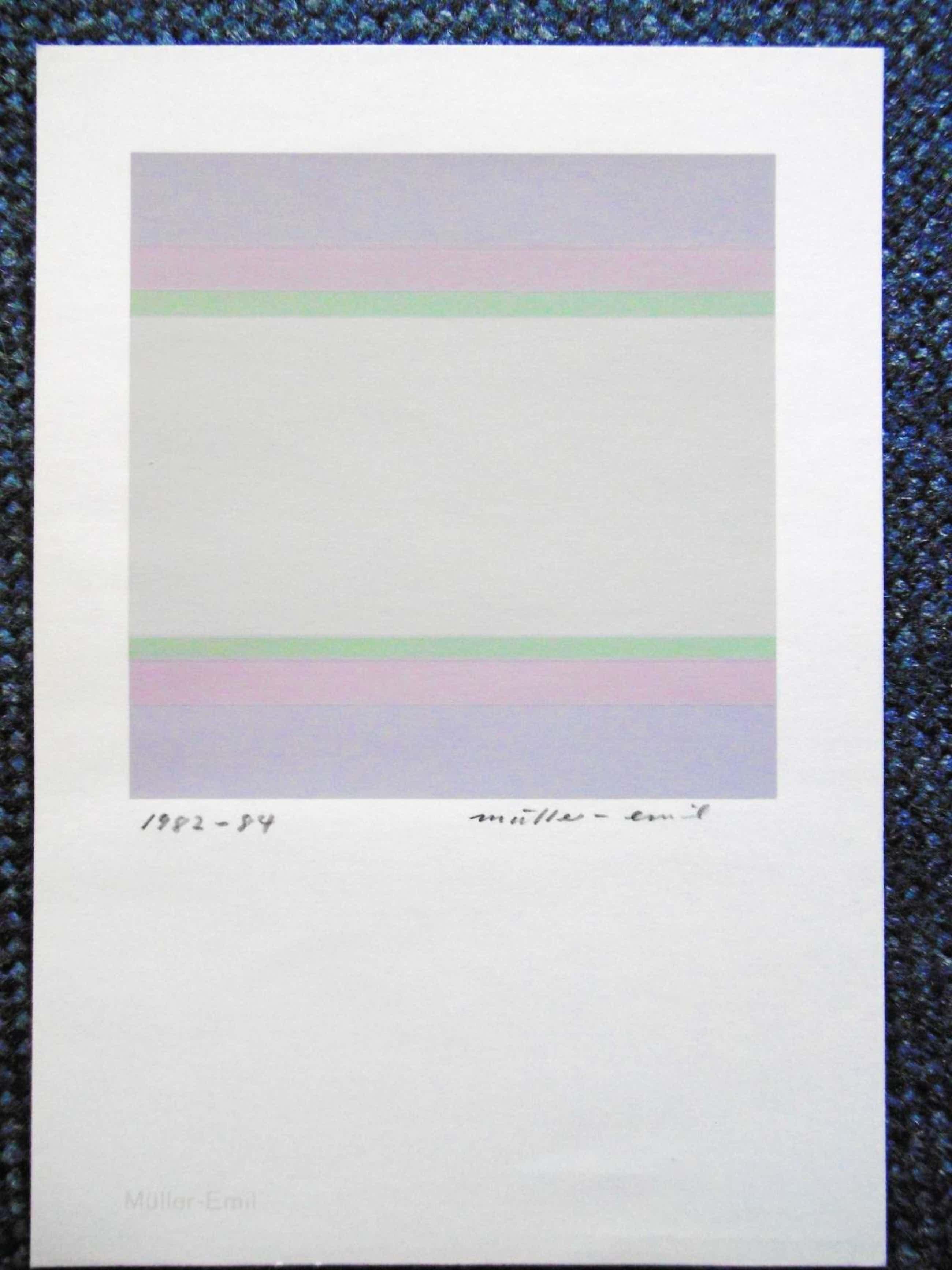 Emil Müller - o.T. Farbsiebdruck von 1982-84, mit Bleistift handsigniert und datiert kopen? Bied vanaf 40!