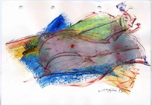 Mojkin Prigge - PAAR - DOPPELAKT 1995 - Handsignierte Acryl-&Federzeichnung der HESSIN aus BREMEN (BERLIN & FLORENZ) kopen? Bied vanaf 48!