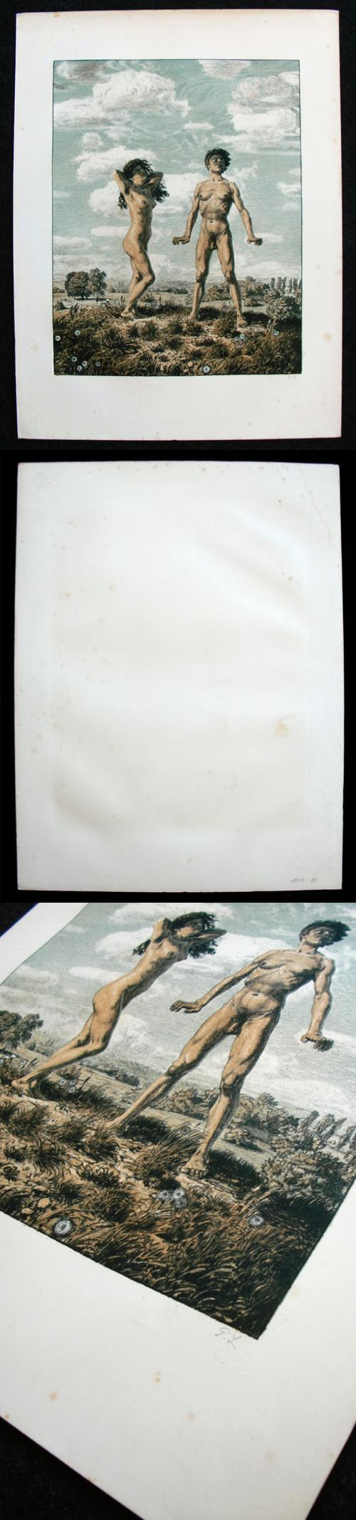 Georg Löhrig - Paar. Farblithographie, um 1895-1900. kopen? Bied vanaf 350!