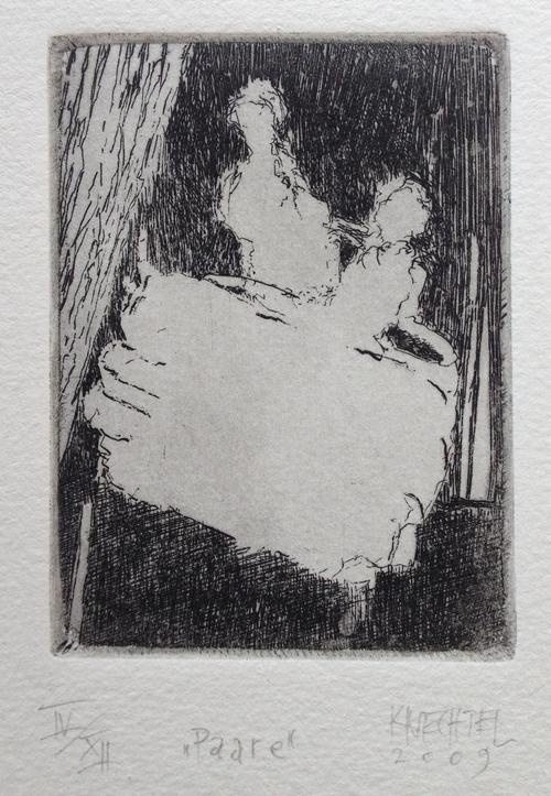 Stefan Knechtel - Paare II, Radierung, 2009, signiert, numeriert kopen? Bied vanaf 50!