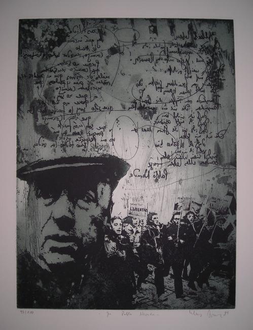 Klaus Böttger - Pablo Neruda Radierung von 1981, hands. 97/100 kopen? Bied vanaf 120!