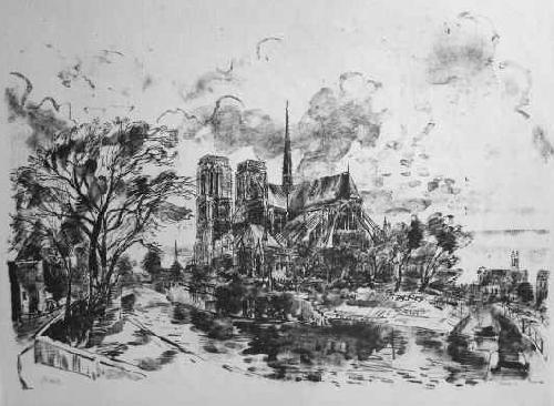 Curt Manz - PARIS - NOTRE DAME vue du Quai MONTEBELLO - signierte OriginalLithographie des SCHWEIZER Künstlers kopen? Bied vanaf 65!
