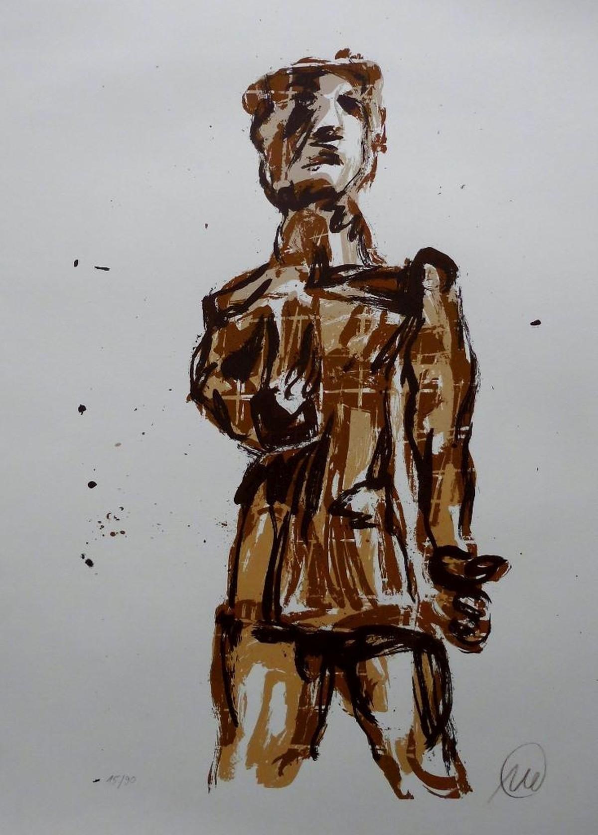 Marcus Lupertz - Paris - Seriegrafie auf Bütten, nummeriert und signiert kopen? Bied vanaf 600!