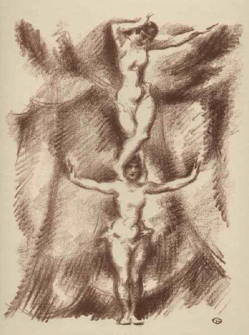 Gino Von Finetti - PARTERRE-AKROBATINNEN - OriginalLithographie des MÜNCHNER JUGEND-Illustratoren aus BERLIN - 1925 kopen? Bied vanaf 62!