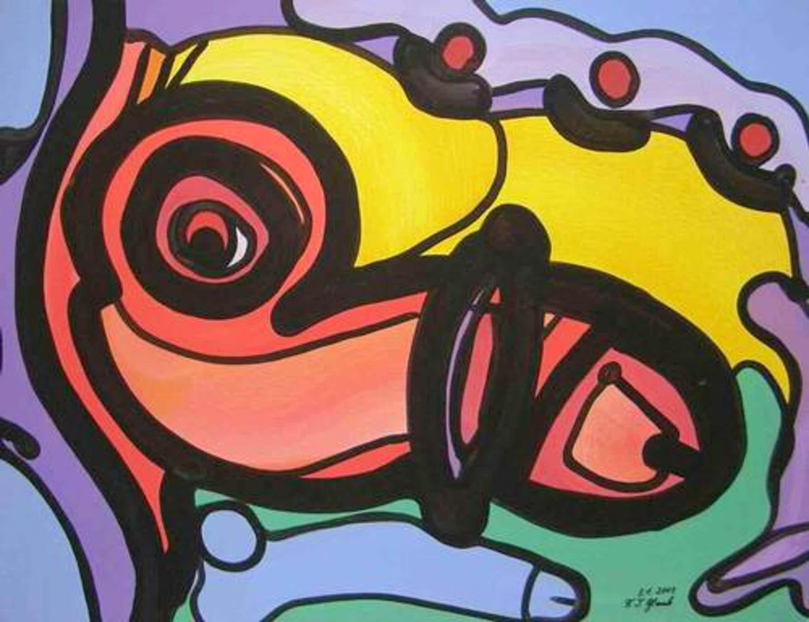 Franz J. Blank - PHALLUS DEI - Grosse POP-ART Acrylmalerei - Handsigniert 2003 (Extravaganza Florida - VISIONEN 2001) kopen? Bied vanaf 110!
