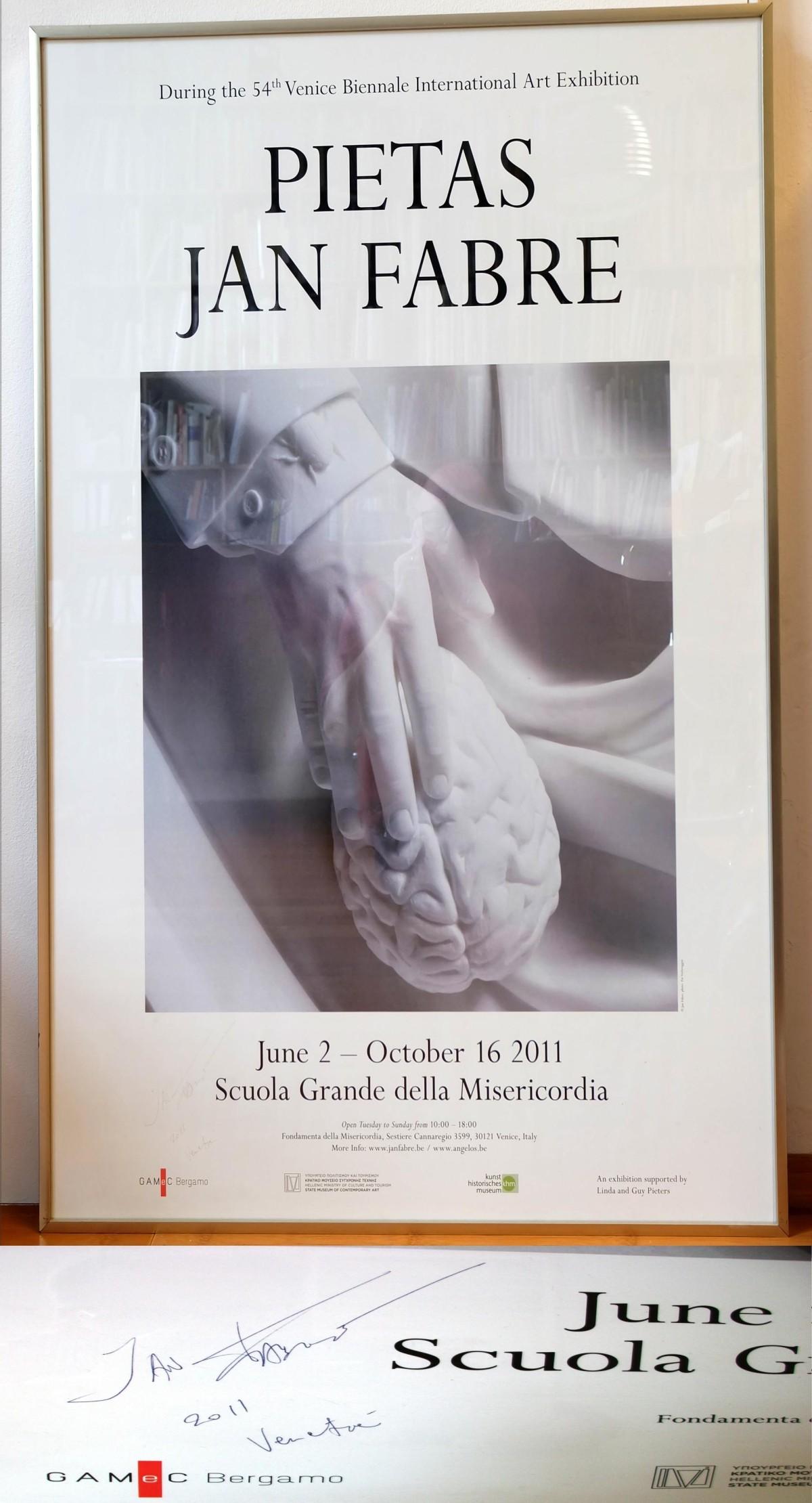 Jan Fabre - Pietas 54. Biennale Vendedig, 2011 Original Hand Signed kopen? Bied vanaf 580!