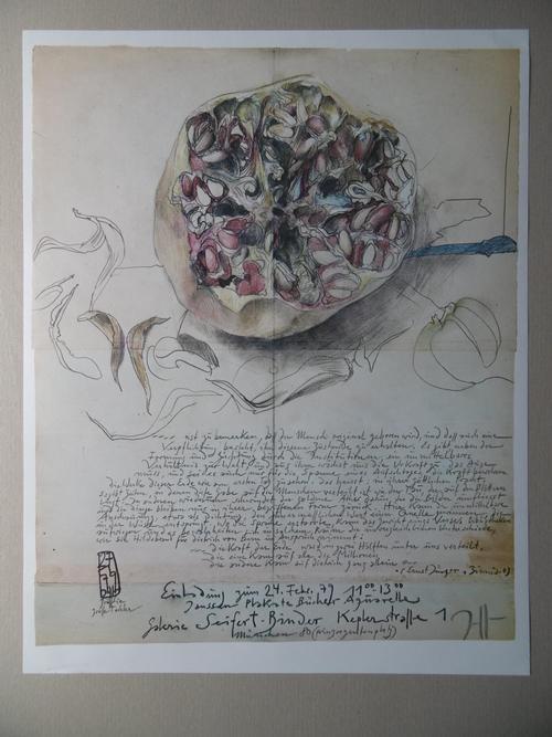 Horst Janssen - Plakat, Granatapfel von 1979, mit Bleistift handsigniert kopen? Bied vanaf 50!