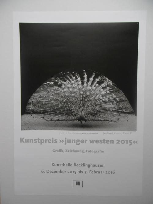 Jan Paul Evers - Plakat Junger Westen, Recklinghausen, 2015, handsigniert und datiert, selten kopen? Bied vanaf 75!