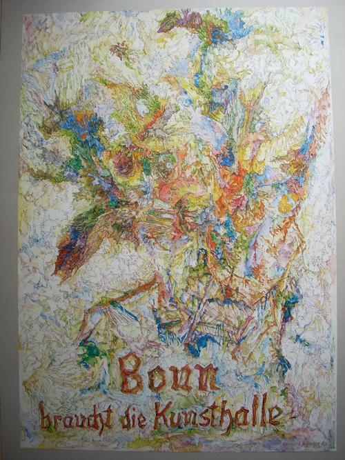 Bernhard Schultze - Plakat KUNSTHALLE FÜR BONN , handsigniert und nummeriert, von 1983, Auflage 100 Exemplare kopen? Bied vanaf 50!