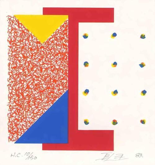 Leung Kui Ting - POPART-KUBISTISCHE INFORMELLE Handsignierte Graphik des HONG-KONG Chinesischen Künstlers 1983 kopen? Bied vanaf 55!