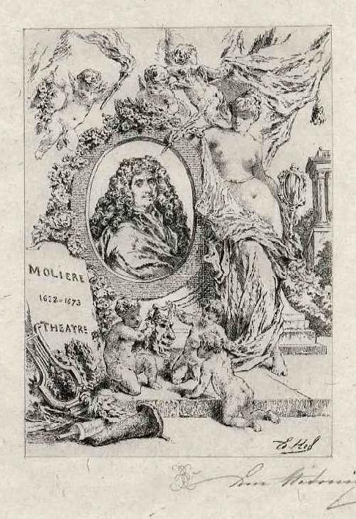 Edmond Hèdouin - Portrait de MOLIÈRE - EauForte Originale signée au Crayon - Handsignierte OriginalRadierung kopen? Bied vanaf 39!