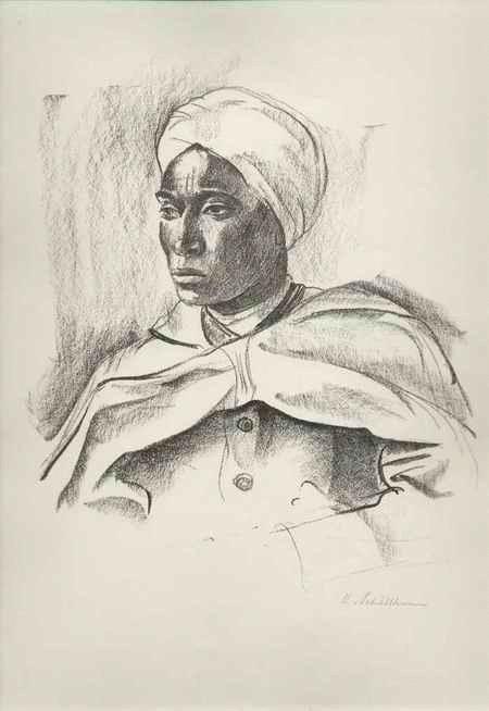 Hans Schöllhorn - - PORTRAIT eines ARABERs - handsignierte OriginalLithographie des SCHWEIZer Künstlers aus Winterthur kopen? Bied vanaf 75!