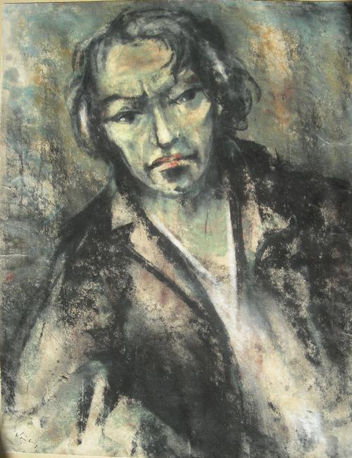 Paul August Kontny - Portrait, Farbkreide, 50er Jahre kopen? Bied vanaf 180!