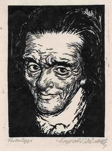 Leopold Wächtler - Portrait Johann Heinrich PESTALOZZI - OriginalHolzschnitt - handsigniert kopen? Bied vanaf 35!