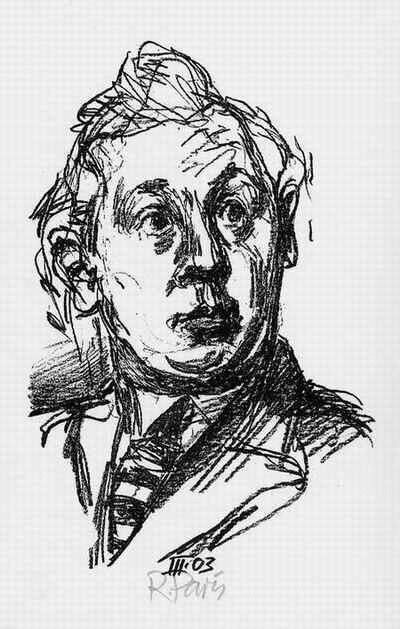 Ronald Paris - PORTRAIT Lothar LANG - Original Lithographie des OTTO NAGEL-Meisterschülers - handsigniert 2002 kopen? Bied vanaf 32!