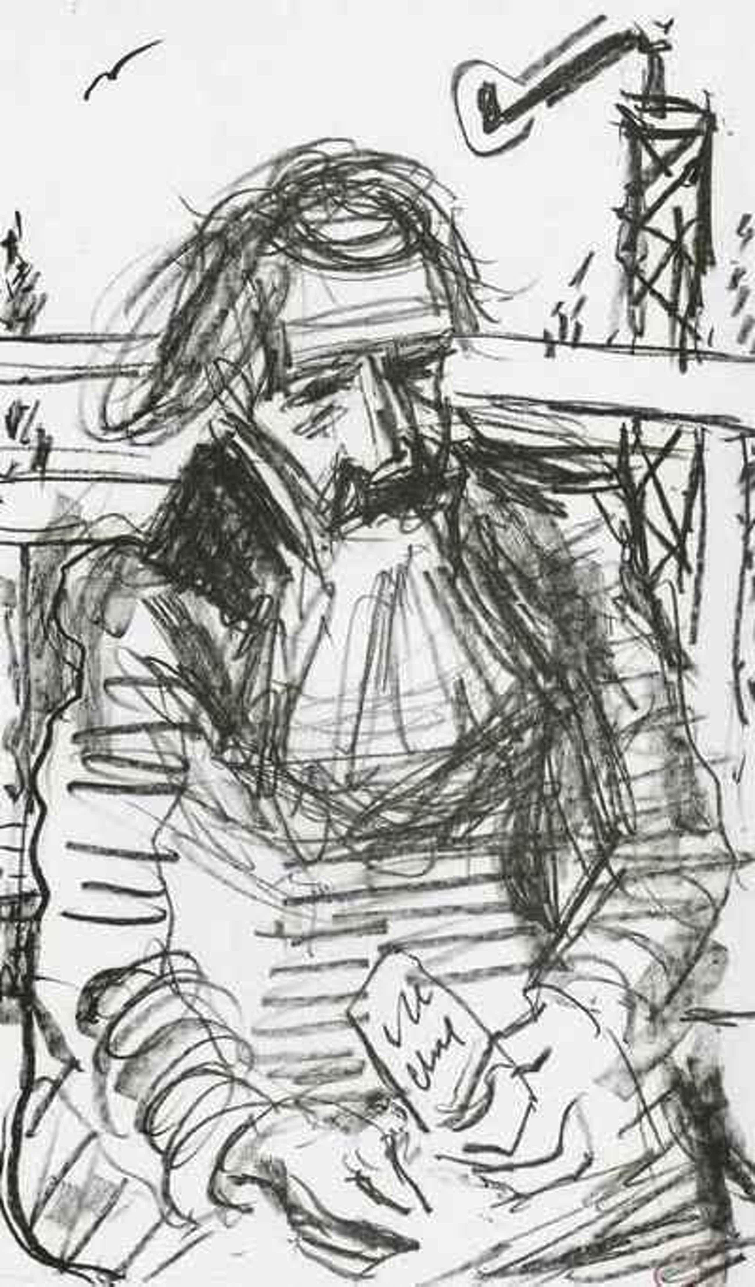 Dieter Goltzsche - - PORTRAIT Peter HILLE - signierte Algraphie d. SCHWIMMER-MeisterSchülers & HÖCH-Preisträgers 2004 kopen? Bied vanaf 32!