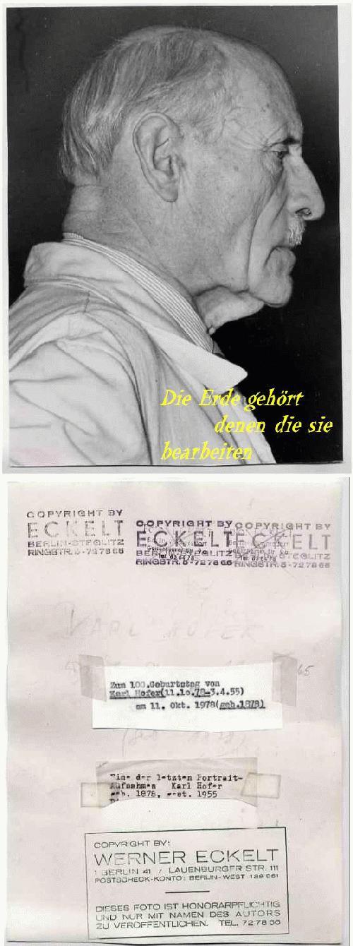 Karl Hofer - PORTRAIT von Werner ECKELT (REQUIEM auf WEST-BERLIN) Letzte PréMortemAufnahme von KARL HOFER 1955 kopen? Bied vanaf 260!