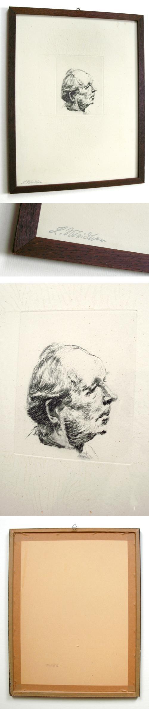Ludwig Meidner - Portrait Wilhelm Lehmann. Radierung. (Stempelsignatur). kopen? Bied vanaf 120!