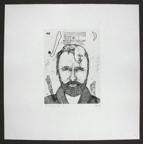 Thomas Ranft - Porträt Michael Morgner. Radierung, 1988. kopen? Bied vanaf 105!
