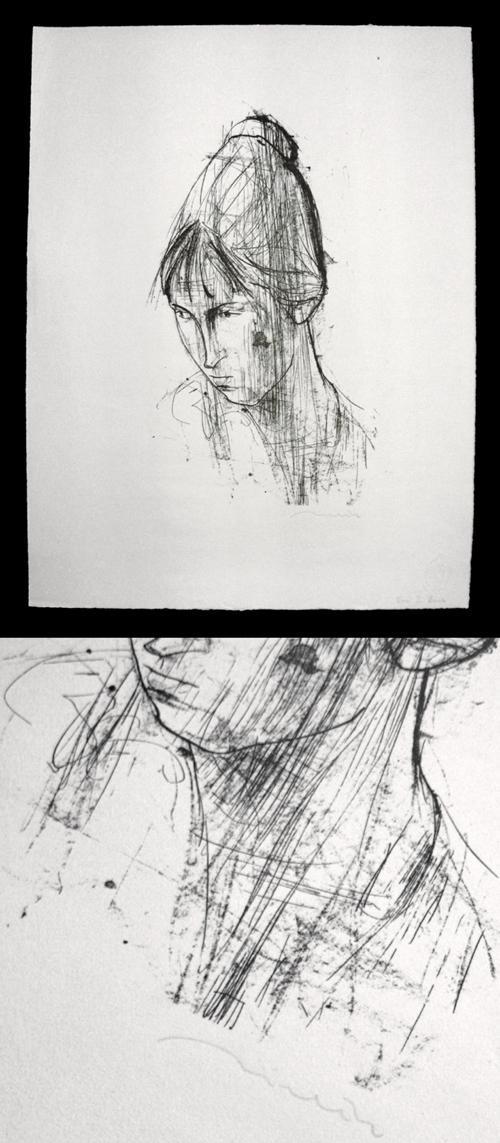 Hans-Theo Richter - Porträt Uta. Lithographie, 1958. kopen? Bied vanaf 300!