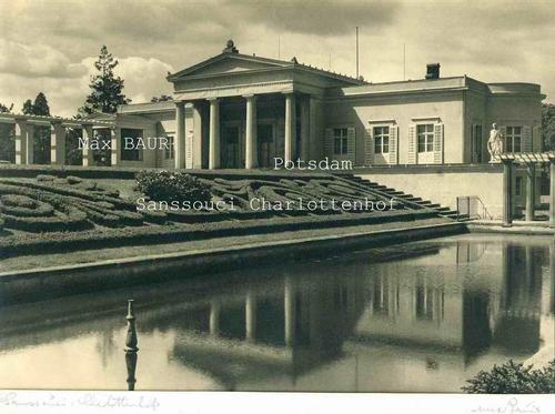 Max Baur - POTSDAM Sanssouci CHARLOTTENHOF - Grosse Repräsentative Handsignierte OriginalFotographie (29x21cm) kopen? Bied vanaf 380!