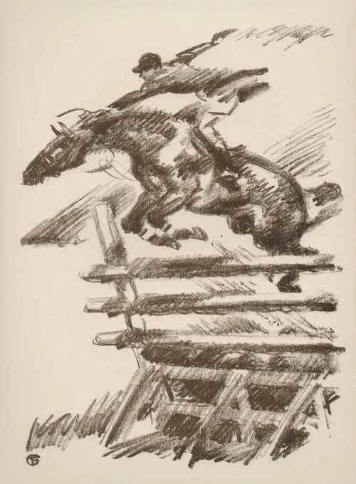 Gino Von Finetti - PREISSPRINGEN der PFERDE - OriginalLithographie des SIMPLIZISSIMUS-Illustratoren aus BERLIN 1925 kopen? Bied vanaf 72!
