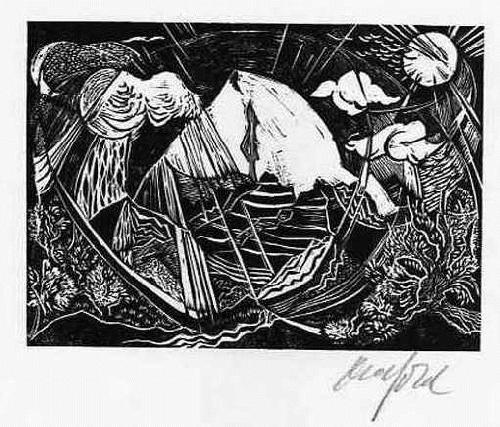 Ruth Schefold - PSALM 36 - OriginalHolzschnitt, handsigniert 1992 (Kunstakademie STUTTGART) kopen? Bied vanaf 22!