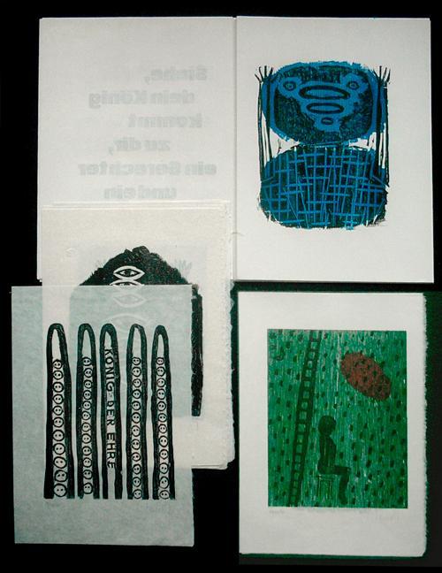 Ulrich Tarlatt - Psalmen 24 91. 10 Holzschnitte & Extra-Suite, 1996. kopen? Bied vanaf 1300!
