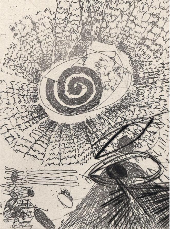 Carlfriedrich Claus - Psychisches Feld, Radierung, 1991, signiert kopen? Bied vanaf 200!