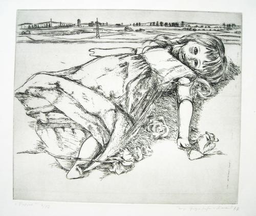 Inge Hergenhahn-Dinand - Puppe, Radierung von 1977 kopen? Bied vanaf 150!