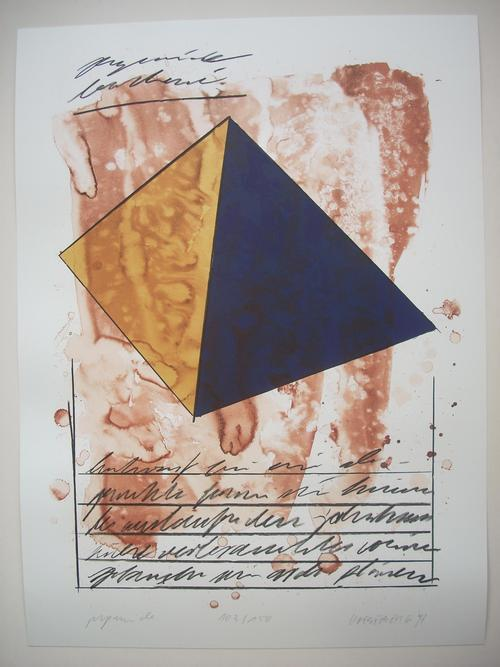 Thomas Fröbel - PYRAMIDE - Original-Farblithographie von 1997, sign.,dat..,numm.,betitelt kopen? Bied vanaf 95!