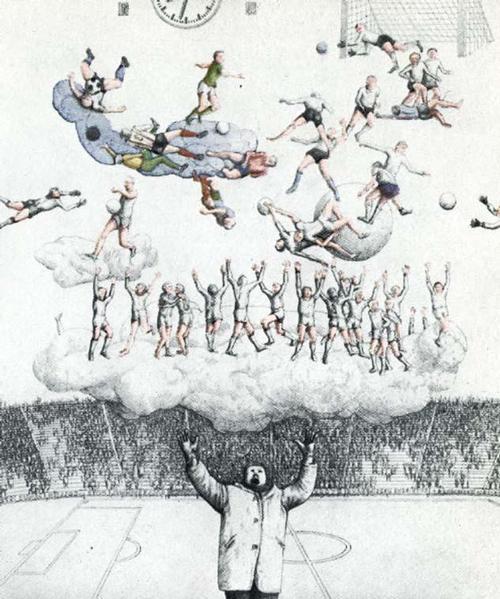 """Peter Collien - """"Ballerhimmel"""", 1973, col. Radierung, handsigniert, numeriert kopen? Bied vanaf 40!"""