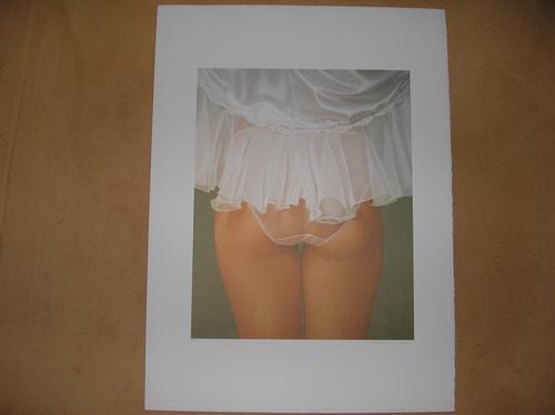 """John Kacere - """"Claire"""" Typischer John Kacere, Lithografie kleine Auflage auf Bütten, handsigniert kopen? Bied vanaf 550!"""