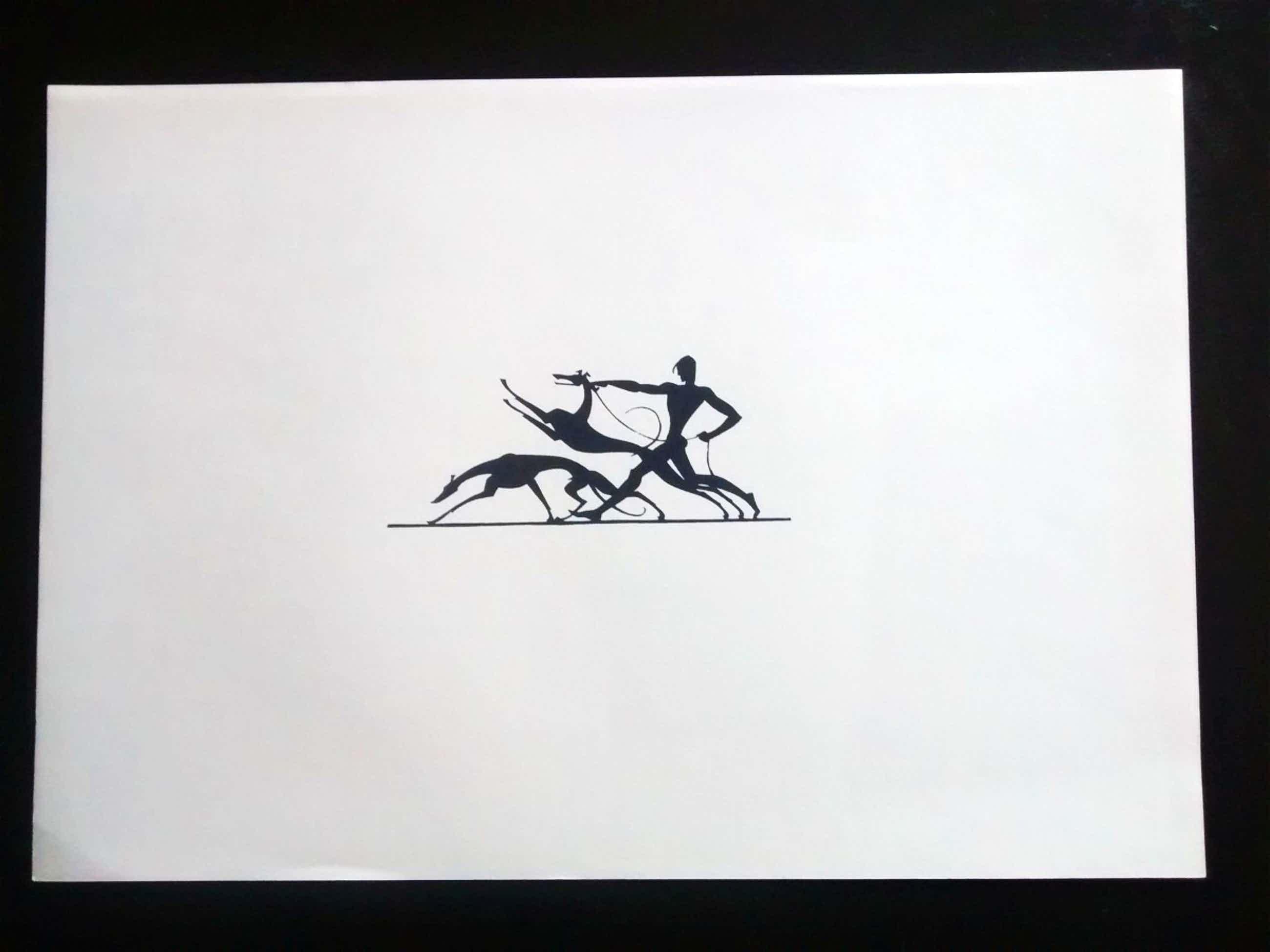"Ernst Moritz Engert - ""Jüngling mit Windhunden"", Expressionismus, Siebdruck, handabzug kopen? Bied vanaf 40!"