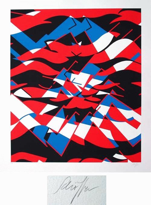 "Nicolas Schöffer - ""Komposition"", großformatige Farbserigrafie, handsigniert, numeriert kopen? Bied vanaf 320!"