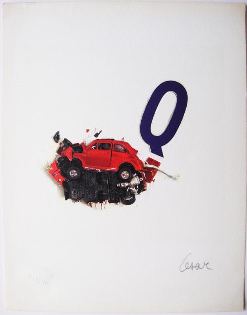 """César Baldaccini - """"Q"""", Offset Lithographie - Handsigniert kopen? Bied vanaf 170!"""