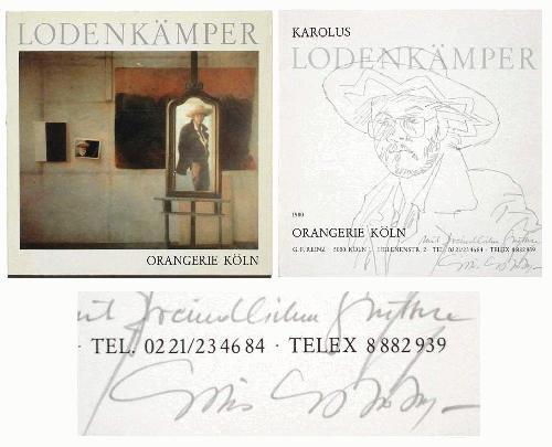 """Karolus Lodenkämper - """"SELBSTPORTRAIT MIT HUT"""" Bleistiftzeichnung kopen? Bied vanaf 160!"""