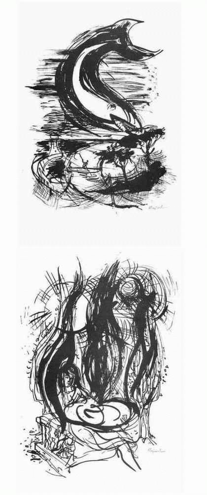 Archibald Bajorat - RACHEL & Im NETZ der FISCHER - 2 handsignierte Graphiken 1965 zu Gedichten von Wolfgang BÄCHLER kopen? Bied vanaf 45!